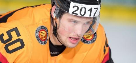 Patrick Hager von Team Deutschland während des Spiels zwischen Kanada und Deutschland am 09.11.2014 in München, Deutschland. (Foto von Marco Leipold/City-Press GbR)