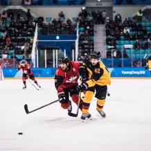 Gangneung, Südkorea, 23.02.2018: Eishockey Männer Halbfinale, Deutschland - Kanada in der Gangneung Hockey Arena.