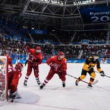 Gangneung, Südkorea, 25.02.2018: Eishockey Finale Russland - Deutschland im Gangneung Hockey Center.