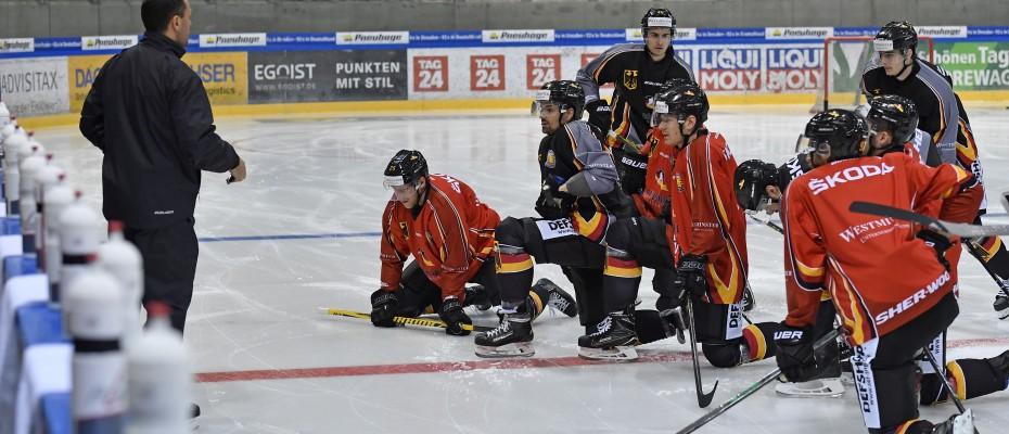 13.04.2018,  Eishockey, Nationalteam Deutschland, Dresden,  c by Matthias Rietschel;  www.rietschel-foto.de,  info@rietschel-foto.de, rietschel2@freenet.de, 0172-3511011;